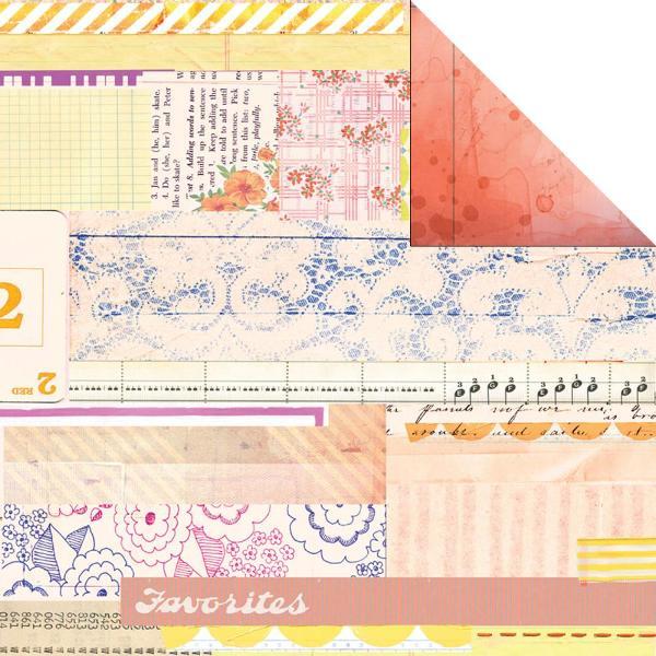 Двусторонняя бумага Pomelo 30х30 см от компании Basic Grey