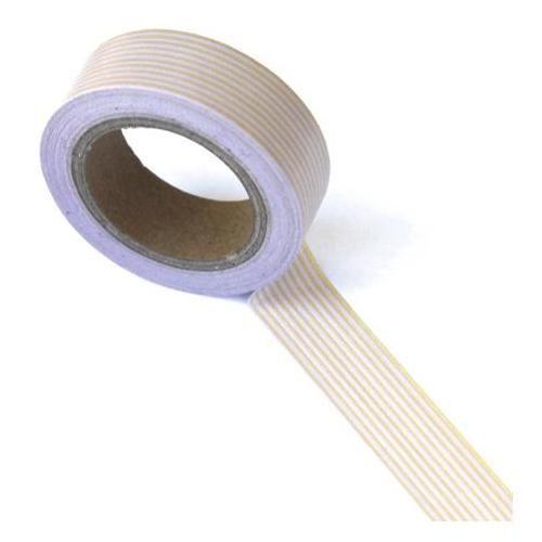 Бумажный скотч Stripes Brown/Pink 10 м, 15 мм от компании Eyelet Outlet