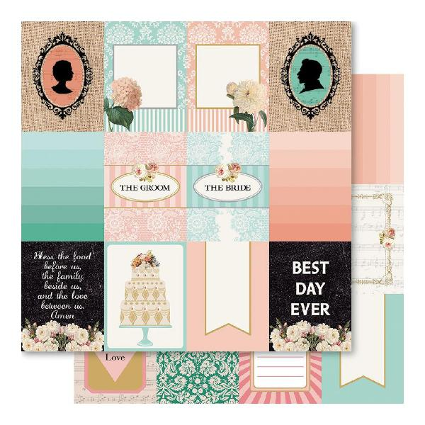 Двусторонняя перламутровая бумага Wedding Tokens 30х30 см от Ruby Rock-It