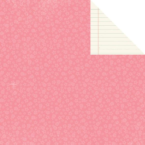 Двусторонняя бумага Pink Floral 30х30 см от компании Simple Stories