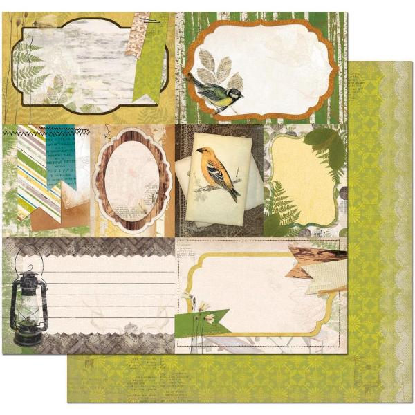 Двусторонняя бумага Woodland Picnic 30х30 см от Bo-Bunny