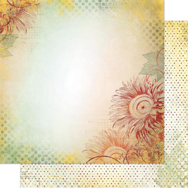 Двусторонняя бумага Sunflower 30х30 см от Bo-Bunny