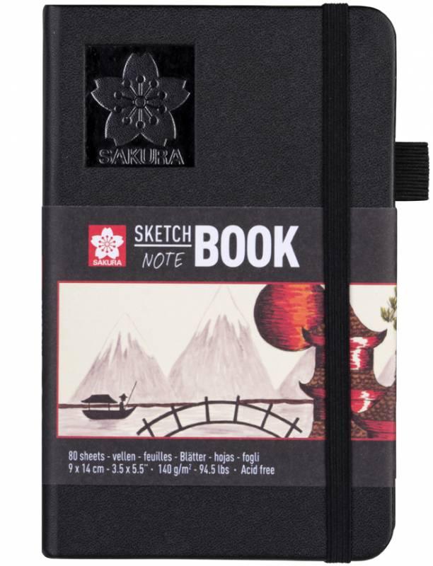 Блокнот Sakura Sketch, 140 г / м2, 9х14 см, 80 л, кремово-белый, Sakura