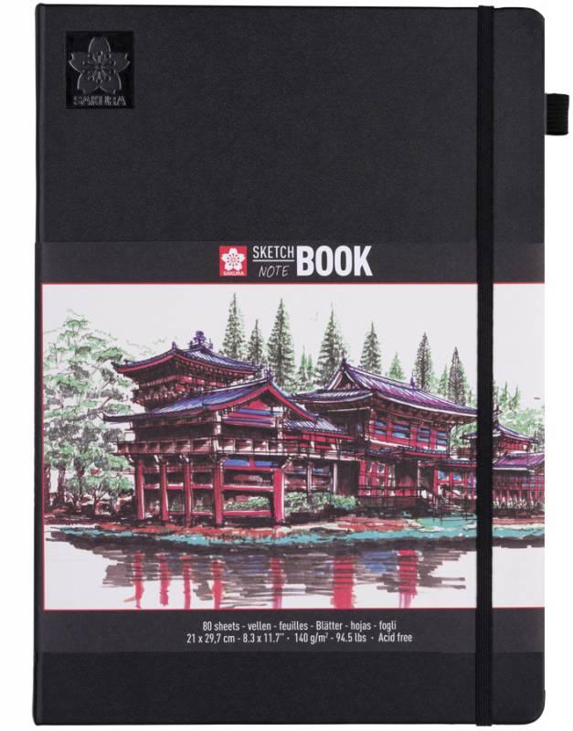 Блокнот Sakura Sketch, 140 г / м2, 21х29,7 см, 80 л, кремово-белый, Sakura