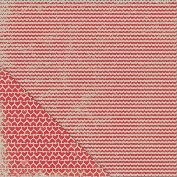 Двусторонняя бумага Scallop Stripe 30х30 см от Little Yellow Bicycle