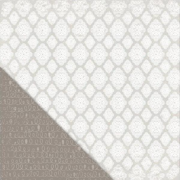 Двусторонняя бумага Diamond Doily 30х30 см от Little Yellow Bicycle