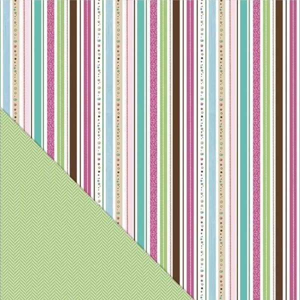 Двусторонняя бумага Twinkling Stripe 30х30 см от Little Yellow Bicycle