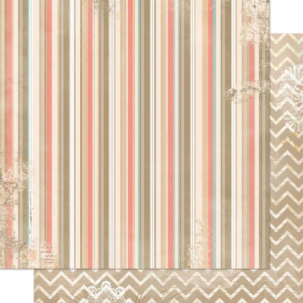 Двусторонняя бумага Stripe 30х30 см от Bo-Bunny