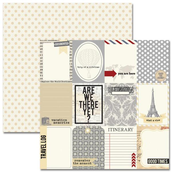 "Бумага двусторонняя для скрапбукинга ""Notecards"" 30х30 см от Teresa Collins"