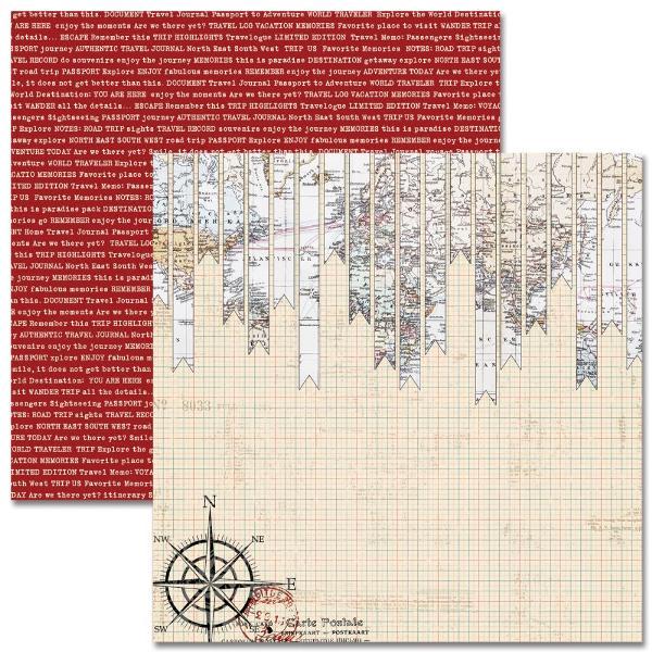 Двусторонняя бумага Pennants 30х30 см от Teresa Collins