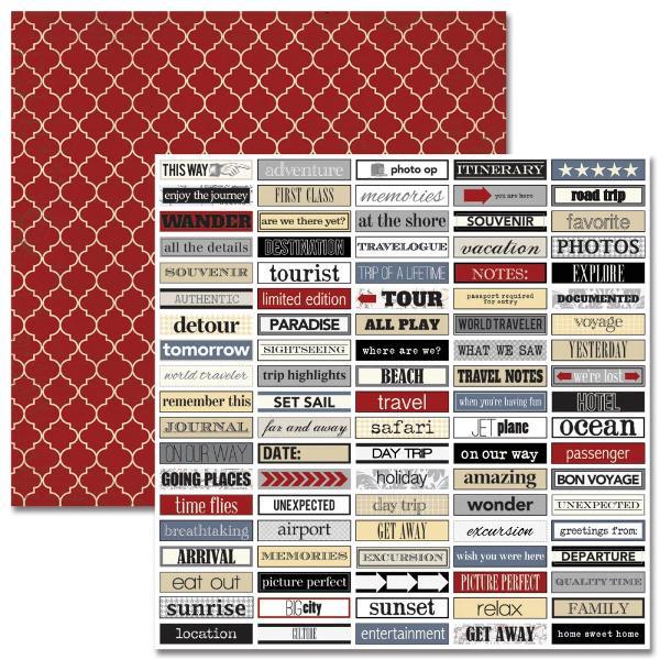 Двусторонняя бумага Word Labels 30х30 см от Teresa Collins