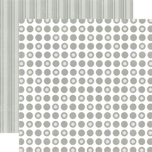 Двусторонняя бумага Silver Bells Small 30х30 см от Echo Park