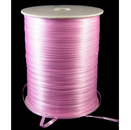 Атласная лента розового цвета, ширина 3 мм, длина 5 м
