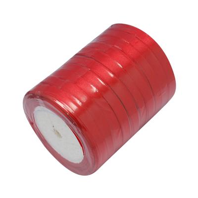 Атласная лента красного цвета, ширина 10 мм, длина 90 см