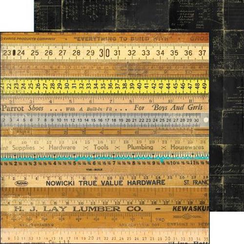 Двусторонняя бумага Post Script 30х30 см от Farm House