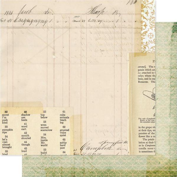 Двусторонняя бумага Heirlooms 30х30 см от Pink Paislee