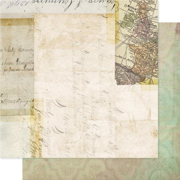 Двусторонняя бумага Records 30х30 см от Pink Paislee