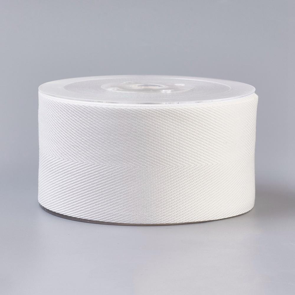 Декоративная лента, хлопок и вискоза, белый, 25 мм, 90 см