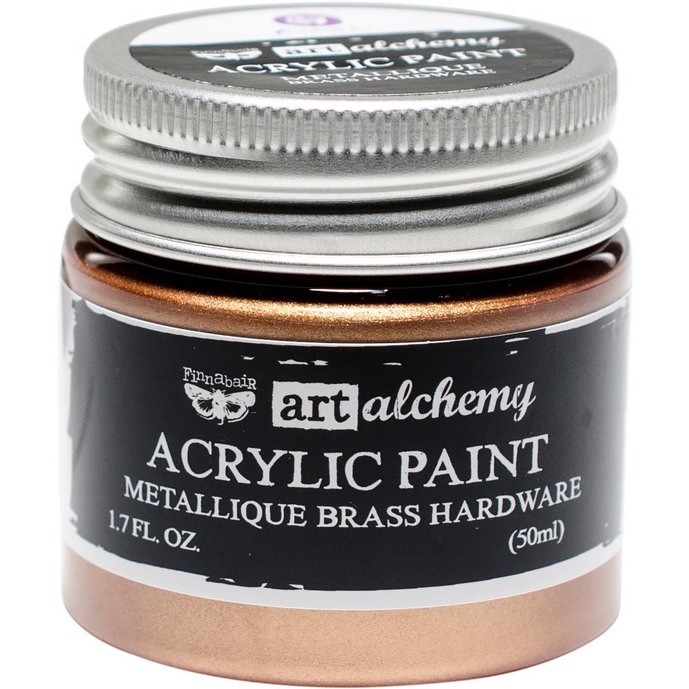 Акриловая краска металлик Metallique Brass - Finnabair Art Alchemy, 50 мл, Prima