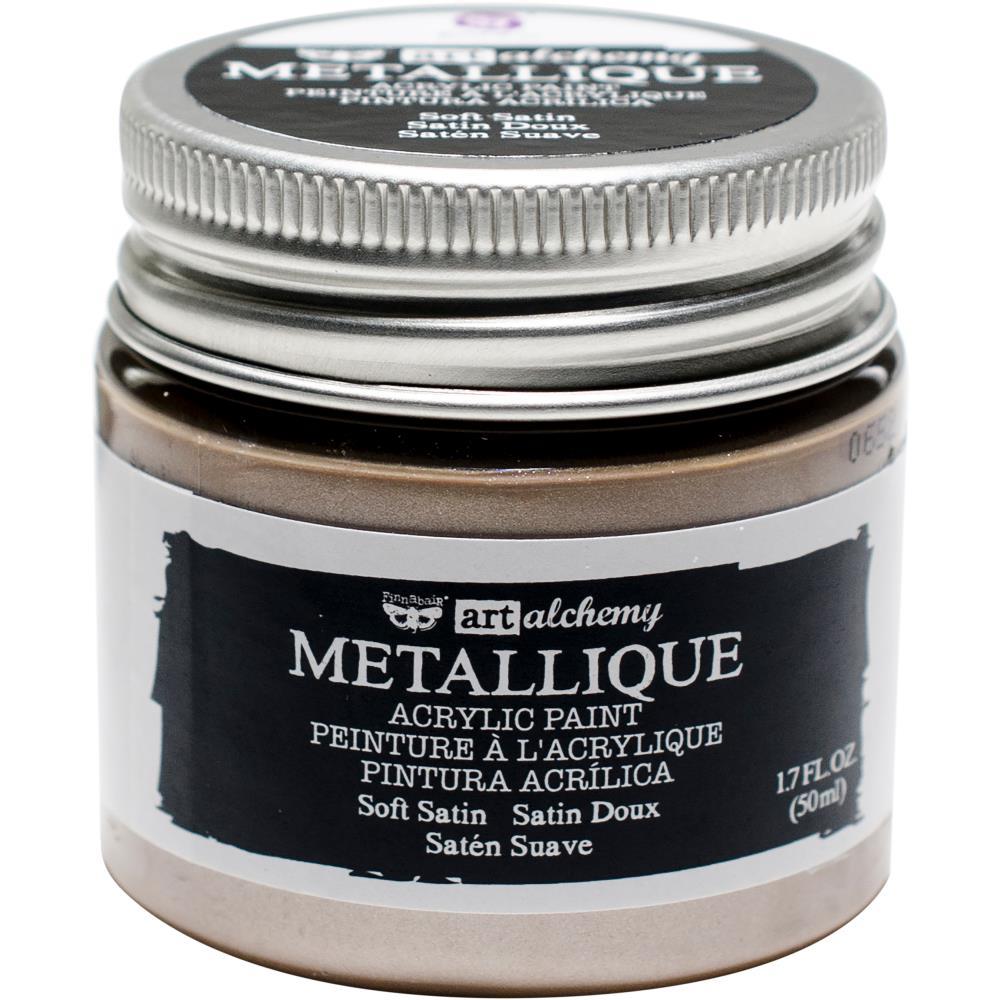 Акриловая краска металлик Metallique Soft Satin - Finnabair Art Alchemy, 50 мл, Prima