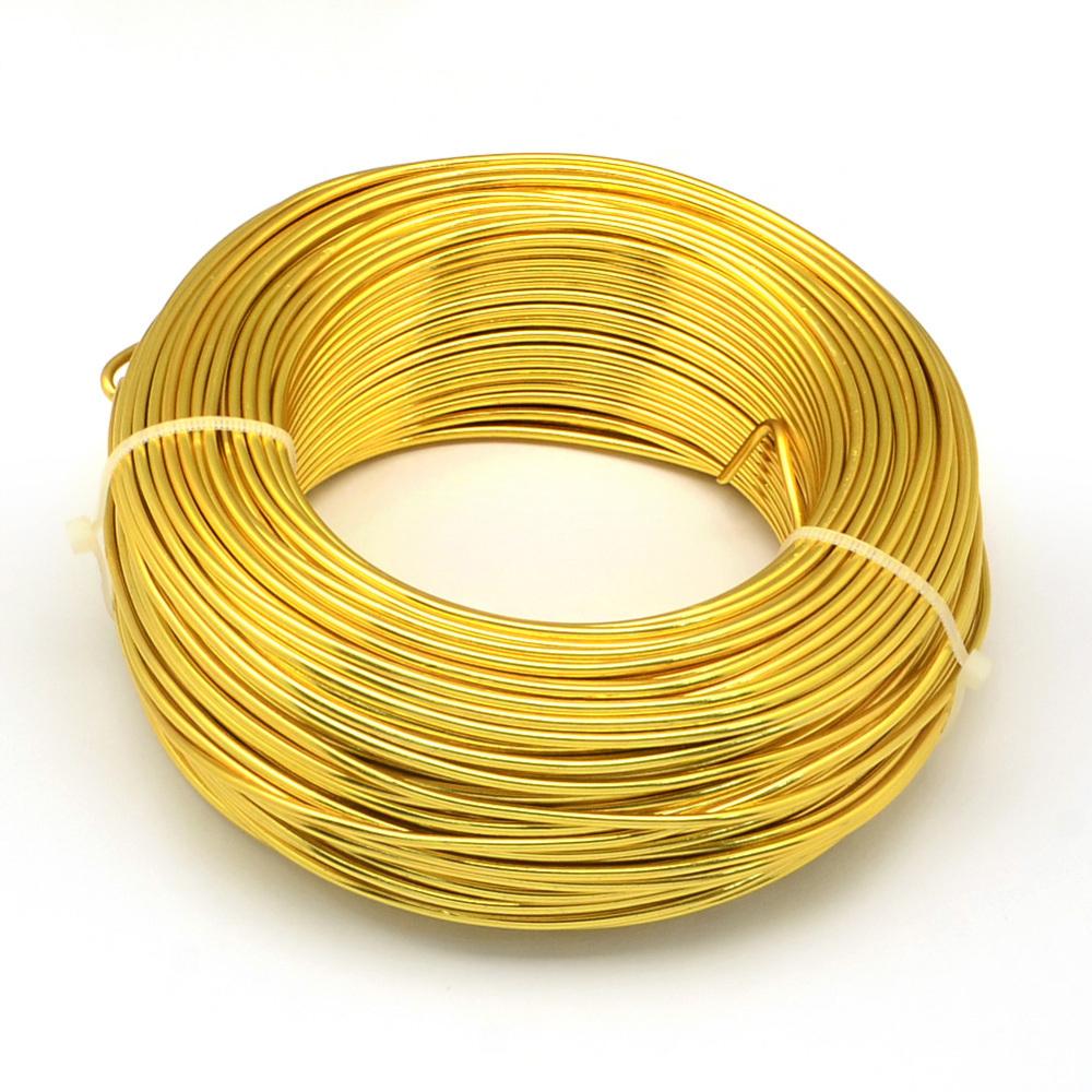 Алюминиевая проволока для рукоделия, золото, 20 номер, 0,8 мм, 1 м
