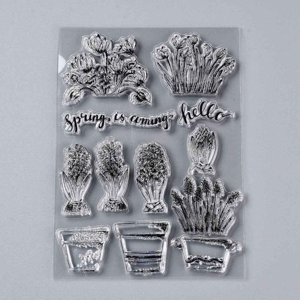 Акриловый штамп, Растительный мир, 151x100x3 мм