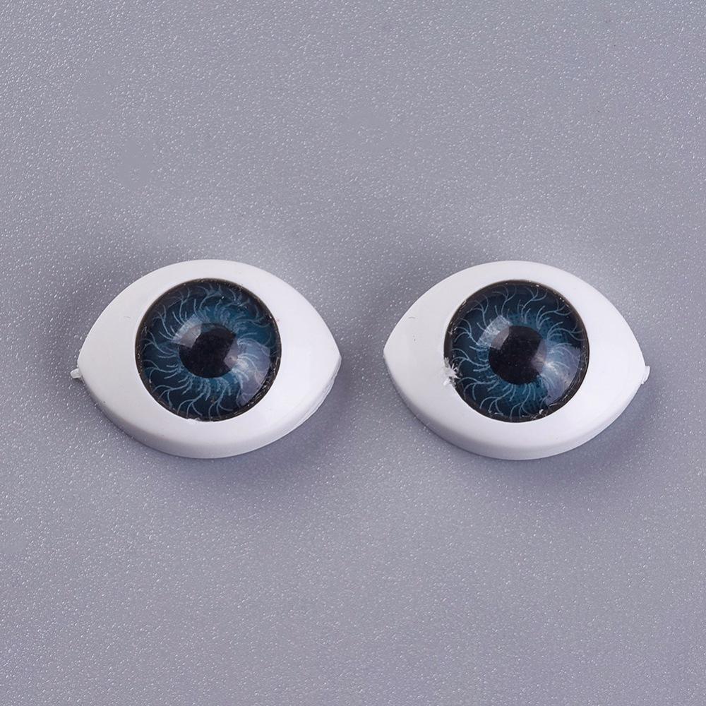 Глаз для кукол и игрушек, синий, 10.5х14.6 мм
