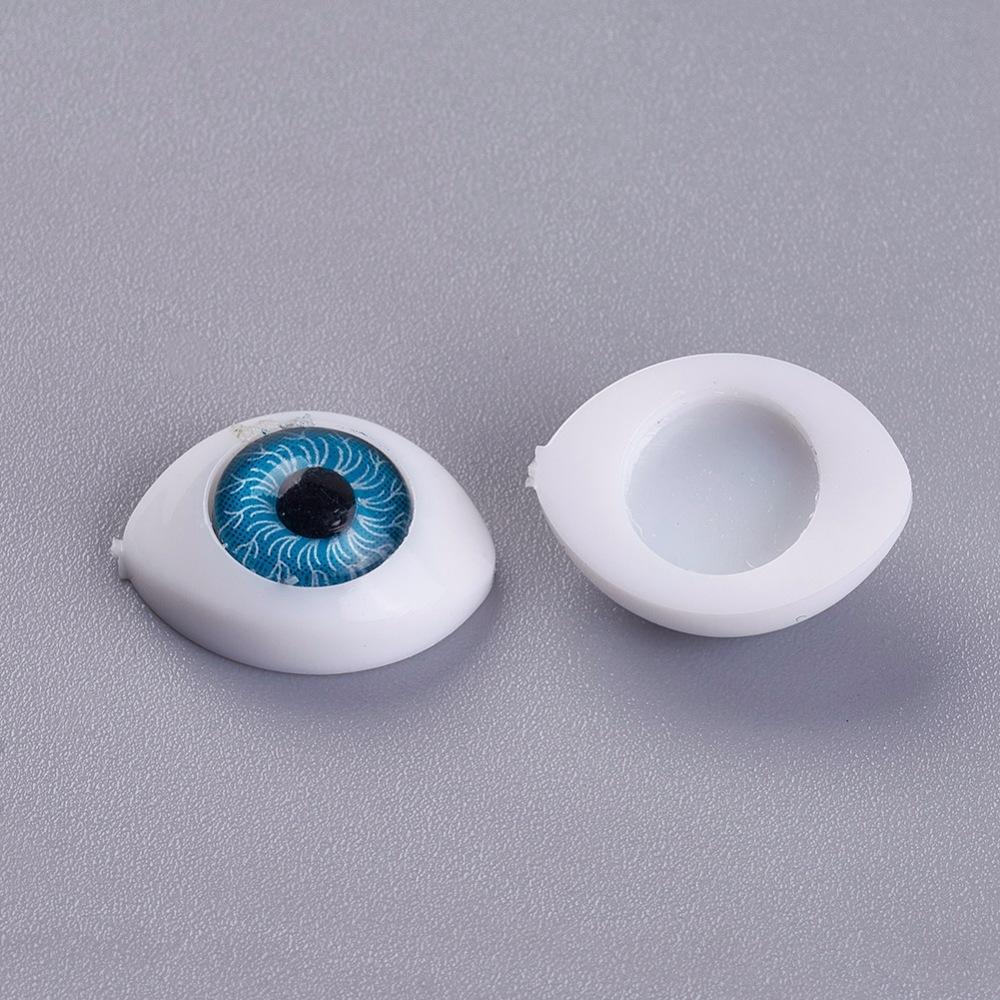 Глаз для кукол и игрушек, голубой, 10.5х14.6 мм