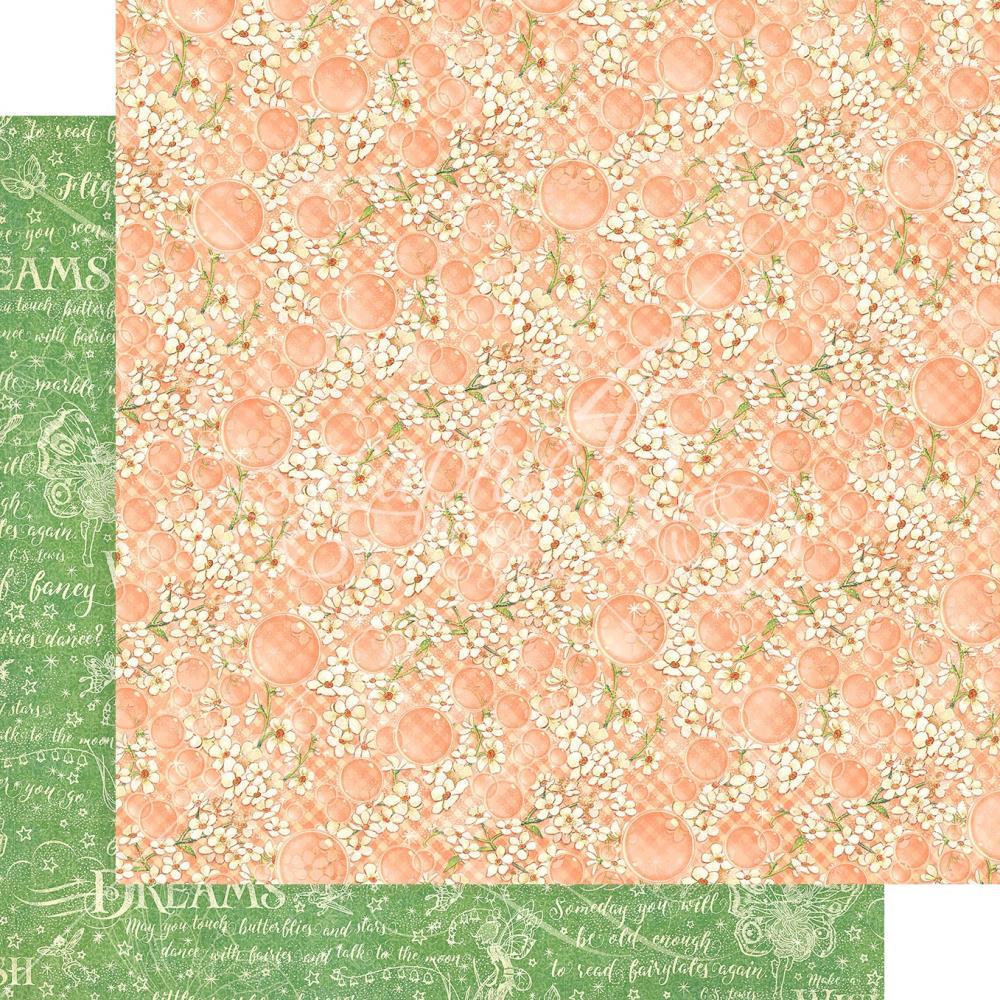 Двусторонняя скрапбумага Tiny Blossoms - Fairie Wings, 30x30см, Graphic 45
