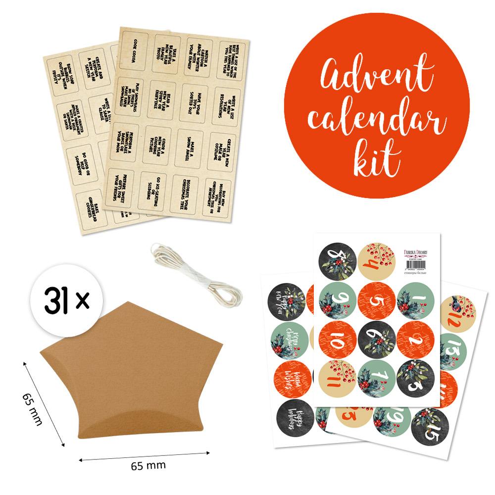 Набор для творчества Адвент-календарь #1 RU, Фабрика Декору