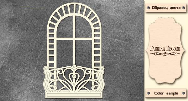 3D-чипборд арочное окно 10х15 см #573