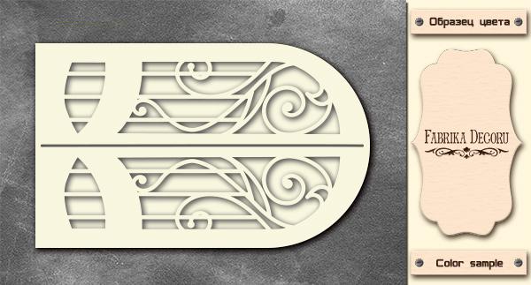 3D-чипборд дверь в стиле ар нуво 10х15 см #574, Фабрика Декора