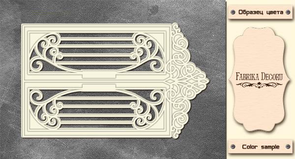 3D-чипборд дверь в стиле ампир 10х15 см #575, Фабрика Декора
