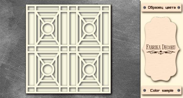 3D-чипборд двойная дверь с геометрическим узором 10х15 см #576, Фабрика Декора