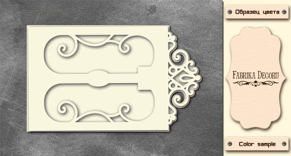 3D-чипборд дверь в стиле арт деко 10х15 см #579, Фабрика Декора