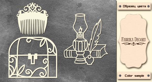 Набор чипбордов, Ретро, 10х15см #585, Фабрика Декора