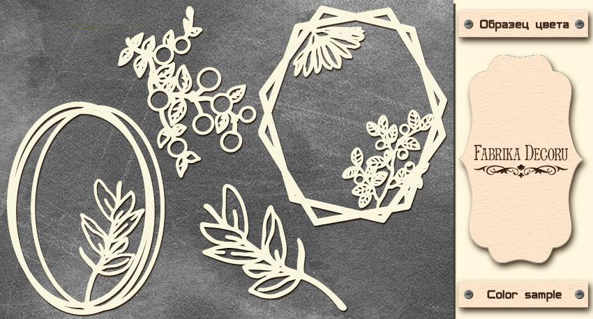 Набор чипбордов, Рамки с летними цветами, 10х15см #603, Фабрика Декора