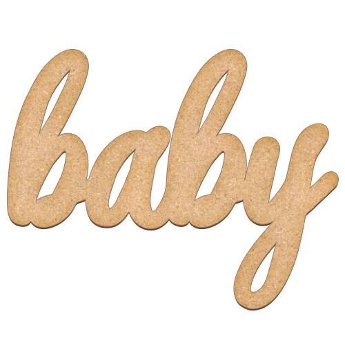 Артборд, буквы Baby, 32х25 см, 3 мм, Фабрика Декора