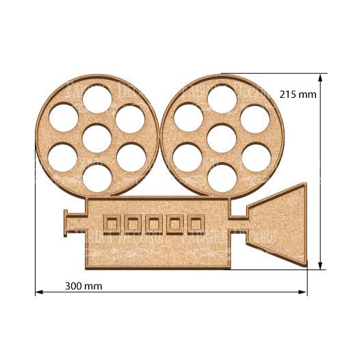 Артборд, Кинопроектор, 30х21,5 см, 3 мм, Фабрика Декора