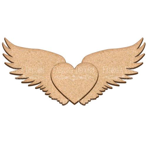 Артборд Сердце с крыльями 40х19 см, Фабрика Декора