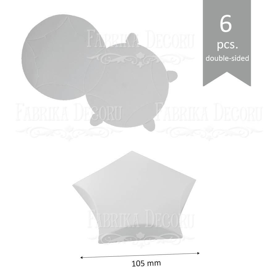 Набор картонных заготовок, Звёздочка макси, 105х20мм, белый, 6шт, Фабрика Декора