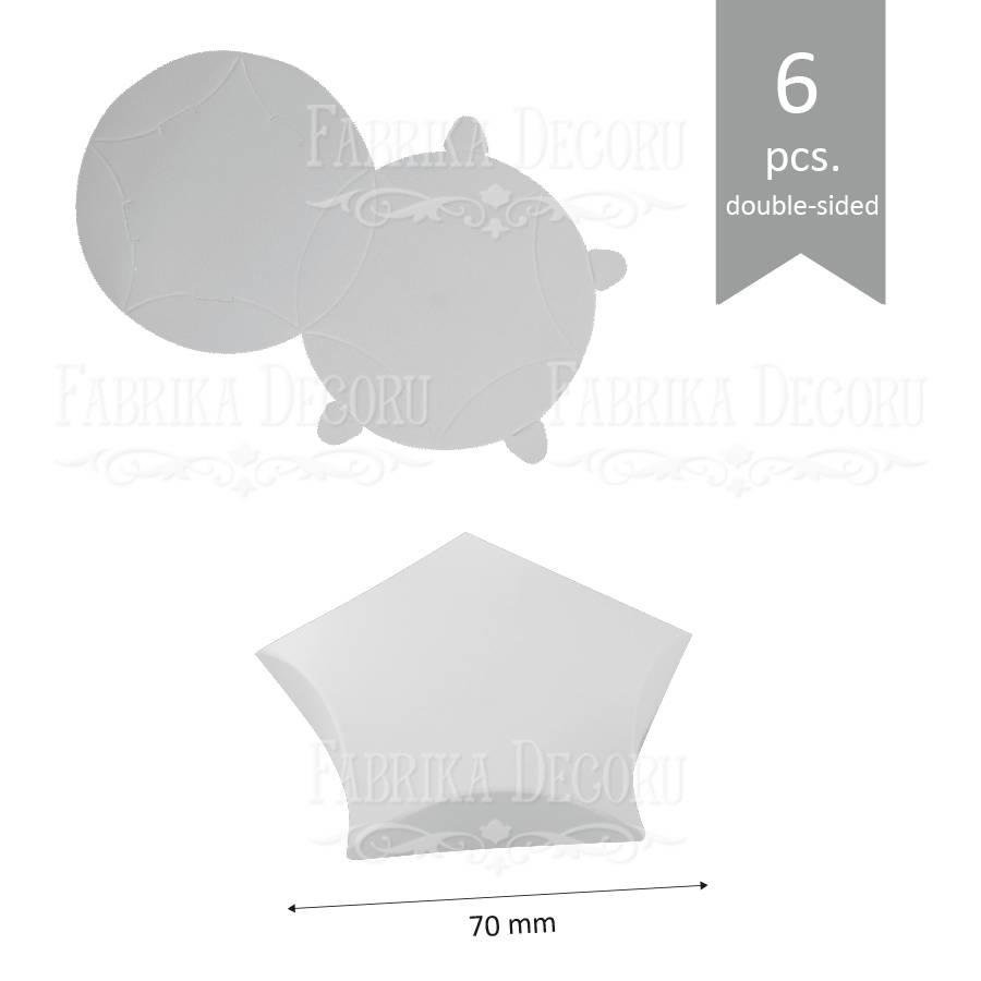 Набор картонных заготовок, Звёздочка мини, 70х15мм, белый, 6шт, Фабрика Декора