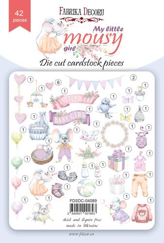Набор высечек коллекция My little mousy girl 42 шт, Фабрика Декора