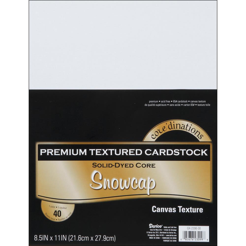 Набор картона Value Pack Canvas - Snowcap, цвет белый, А4, 40 листов, 175 г/м2, Core'dinations