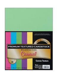 Набор текстурного картона Darice Value Pack Canvas Cardstock А4 - 40 листов Carnival Assortment, Darice