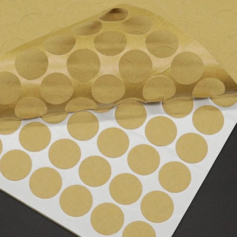 Вспененные клеевые кружки, белый, 15х2 мм, 228шт/лист