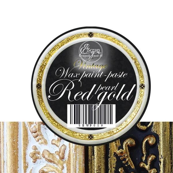 Восковая краска-паста Red Gold pearl, 10 мл, ScrapEgo