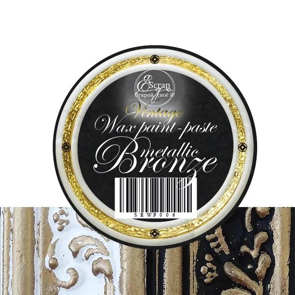 Восковая краска-паста Vintage Bronze pearl, 10 мл, ScrapEgo
