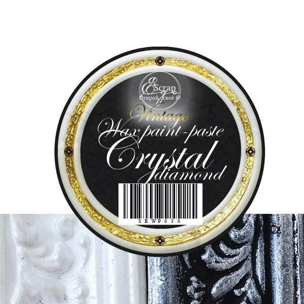 Восковая краска-паста Vintage Crystal diamond, 10 мл, ScrapEgo