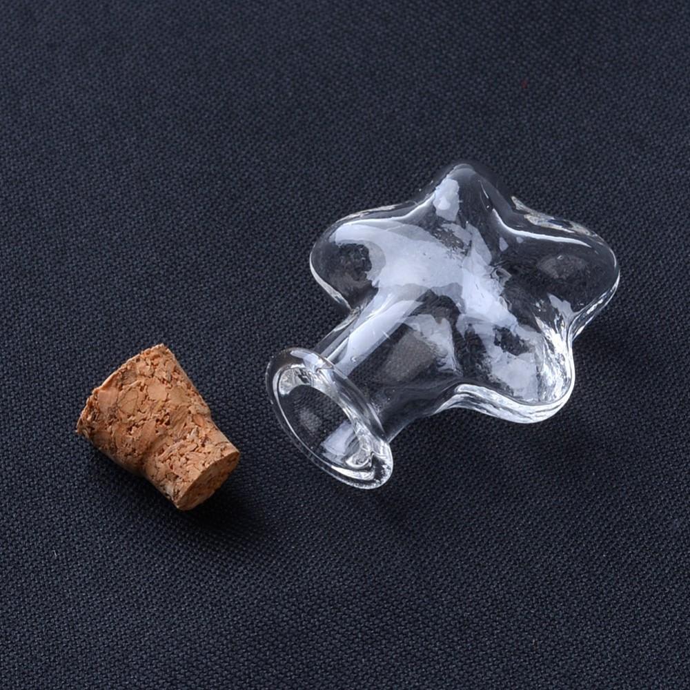Бутылочка в форме звезды, 1 шт, 28,5x21x11,5 мм